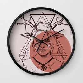 Bambi Lady Wall Clock