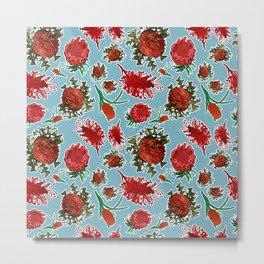 Australian Native Floral Pattern Metal Print