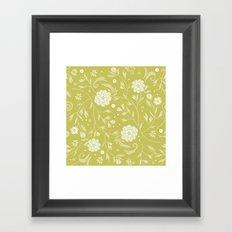 Sunny floral pattern Framed Art Print