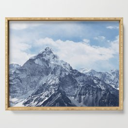 Snowy Mountain Peaks Serving Tray