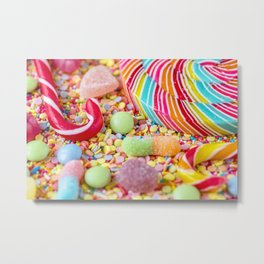 Rainbow Candy Metal Print
