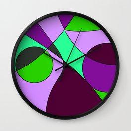 Abstract pattern Cuts Wall Clock