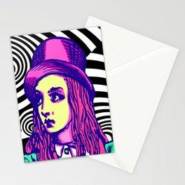 Purple Alice Vortex Stationery Cards