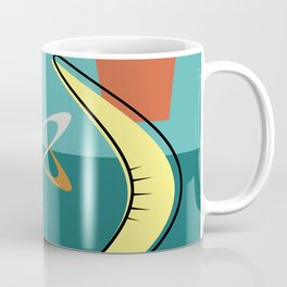 Turquoise Atomic Era Space Age Coffee Mug