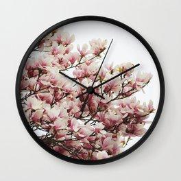 Magnolias II Wall Clock