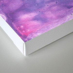 Ube abstract watercolor Canvas Print