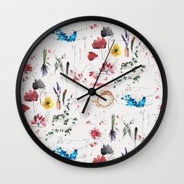 Pressed flowers Wall Clock