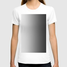 White to Black Vertical Linear Gradient T-shirt
