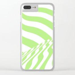 sudden change. mint Clear iPhone Case