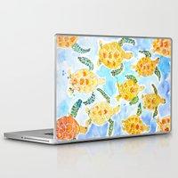 turtles Laptop & iPad Skins featuring Turtles by Julie Lehite