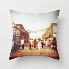 Coney Island #1 Throw Pillow