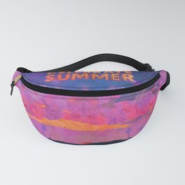 Celebrate Summer Sunset Scene Watercolor Painting Fanny Pack