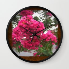 Crape Myrtle Blank P3F0 Wall Clock