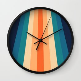 Retro Classic 70's Stripes Wall Clock