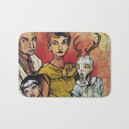 But We Love Her Anyway - creepy family portrait Bath Mat