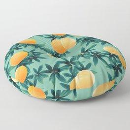 Orange Twist Vibes #1 #tropical #fruit #decor #art #society6 Floor Pillow