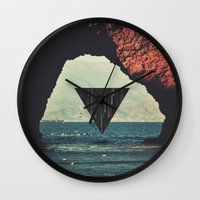 portal Wall Clocks featuring Portal by maysgrafx