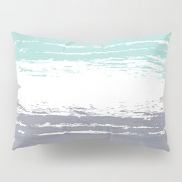 Pastel Color Blocks - Teal & Petroleum Pillow Sham