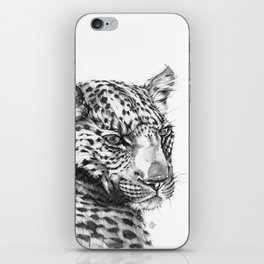Leopard (Black & White) iPhone Skin