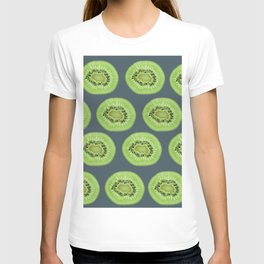 Kiwi pattern home decor interior design minimal cement polka dots graphite gray T-shirt