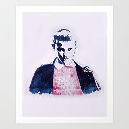 'Eleven' Watercolor Portrait Art Print