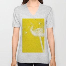 Freesia Yellow Dandelion Unisex V-Neck