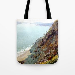 Golden Gate from the Ocean Cliffs of San Francisco by Theodore Wores - Vintage Painting Tote Bag