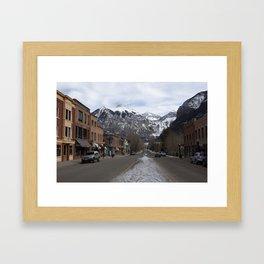 Downtown Telluride, Colorado Framed Art Print