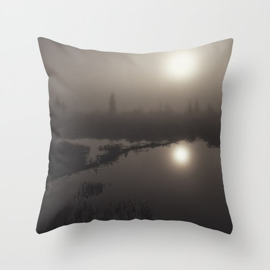 morning mystery Throw Pillow