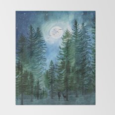 Silent Forest Throw Blanket