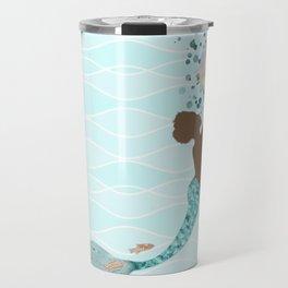 Beautiful Black Mermaid Travel Mug