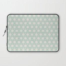 Seafoam Green Asanoha (Hemp Leaf) Pattern Laptop Sleeve