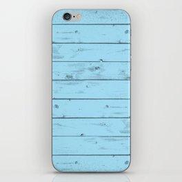 Blue Wood Texture iPhone Skin