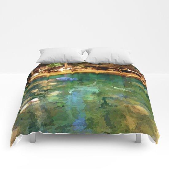 Glistening Pond Comforters