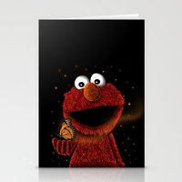 elmo Stationery Cards featuring Elmo and Little Butterfly by Fathi