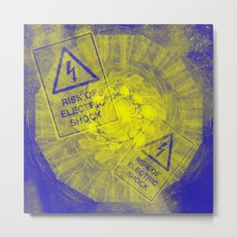Abstract risk of electric shock Metal Print