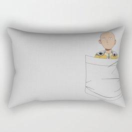 Caped Baldy Pocket Tee Rectangular Pillow