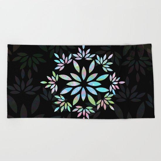 flower 3 Beach Towel