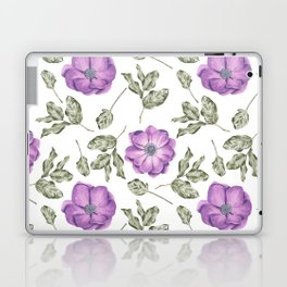 Chic Purple Anemone Flower Pattern Laptop & iPad Skin