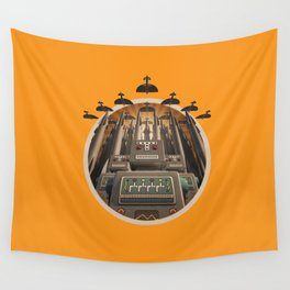 Robots Unite! crest variant Wall Tapestry