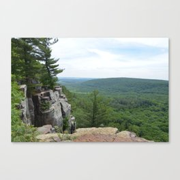 Over the cliff Canvas Print