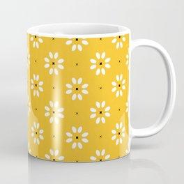 Daisy stitch - yellow Coffee Mug