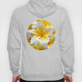 Frangipani halo of flowers Hoody