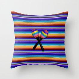 Mexican Stripes Throw Pillow