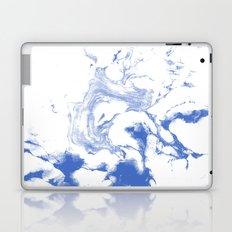Marble Suminagashi indigo blue 4 watercolor pattern art pisces water wave ocean minimal design Laptop & iPad Skin