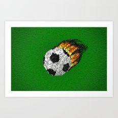 Great Ball Of Fire - Mosaic Style Art Print