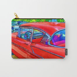 Vintage red retro car Carry-All Pouch
