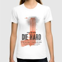 die hard T-shirts featuring Die Hard (Full poster variant) by Wharton
