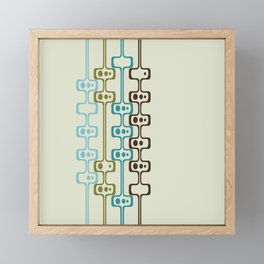 Mid Century Modern Daddy-O (teal) Framed Mini Art Print