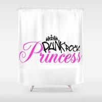 punk rock Shower Curtains featuring Punk rock princess by Shopix.ca